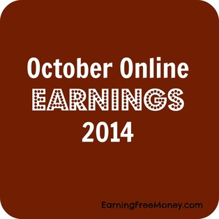 October Online Earnings 2014 #onlineblogincome via www.earningfreemoney.com