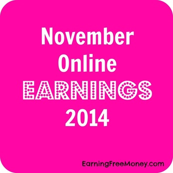 November Online Earnings 2014 #bloggerincome via www.earningfreemoney.com