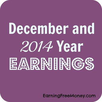 December and 2014 Year Earnings via www.Earningfreemoney.com