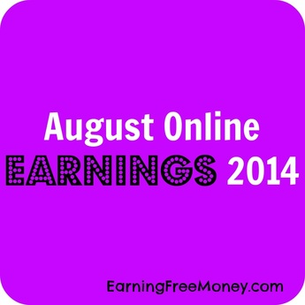 August Online Earnings 2014 #Blogincome via www.Earningfreemoney.com
